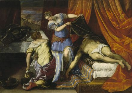 Tintoretto, Jacopo Robusti: Judith and Holofernes. Fine Art Print/Poster. Sizes: A4/A3/A2/A1 (001994)